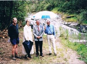 John Landy with LorneCare at Stony Creek.