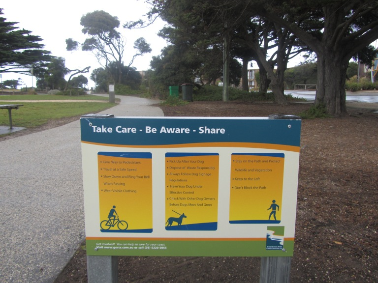 One of the four signs located in Torquay and Jan Juc