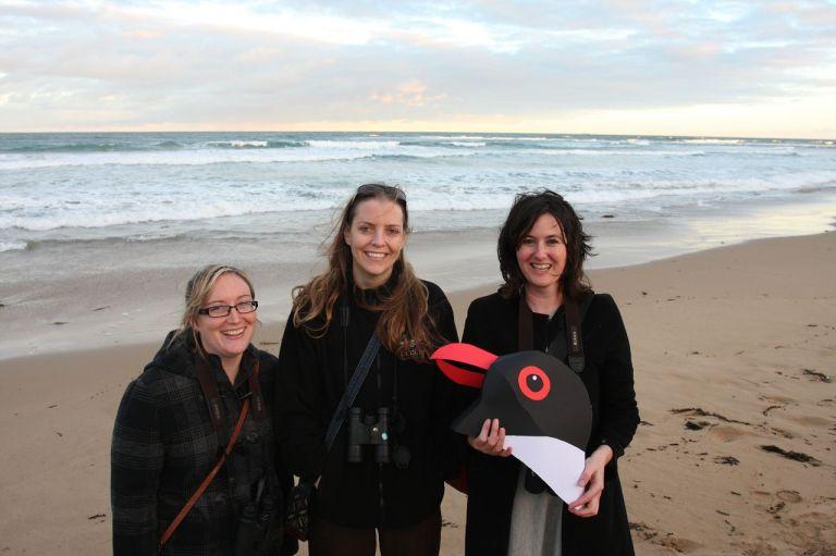 The BirdLife Australia beach nesting birds team (L-R) Renee Mead, Meg Cullen and Grainne Maguire.