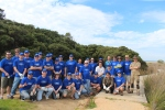 Ford employees got their hands dirty last month as part of a GORCC run program, planting over 1000 coastal saltmarsh plants along the Anglesea River. Photo: Abhishek Sharma.