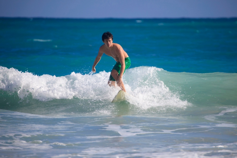 teenager surfing