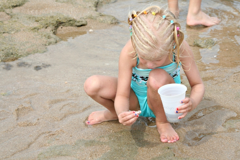 There's so much to discover on the beach! Kids love to find interesting things, especially in rock pools.