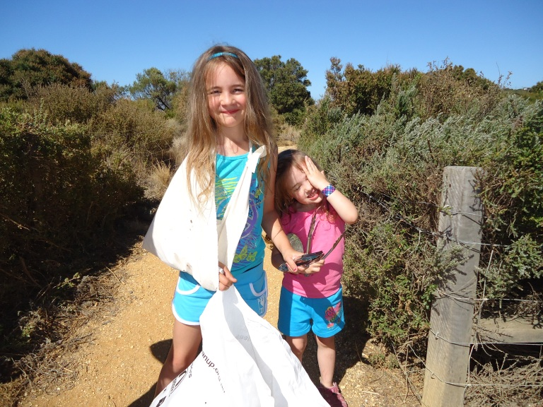 Who says volunteering has an age limit? These two little helpers did their bit in keeping Australia beautiful during last years Clean Up Australia Day.