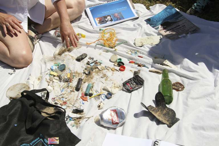 There was plenty of rubbish collected along the Torquay foreshore.