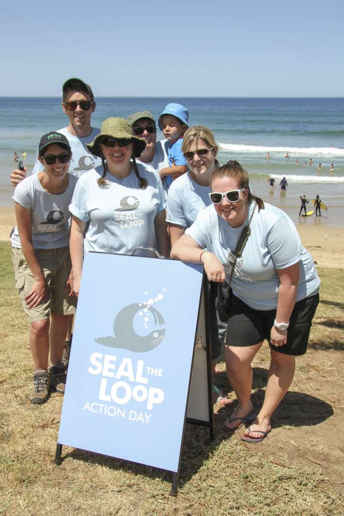 Torquay College students wear the Seal the Loop shirts in support of protecting marine wildlife.