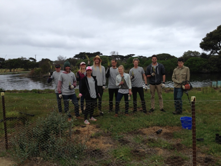 Rip Curl employees completed a river clean-up and planting day at Spring Creek, one of many locations targeted on the Day,