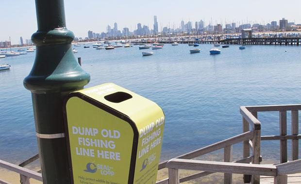 Seal the Loop bins have been placed in popular fishing areas all along the Victorian coastline.  Image: Zoos Victoria