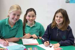 Arts and craft activities were enjoyed by students who coloured in Hooded Plover pictures.