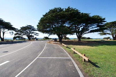 The carpark area has been redesigned to include long vehicle parking to cater for a large variety of visitors. Photo: Ferne Millen