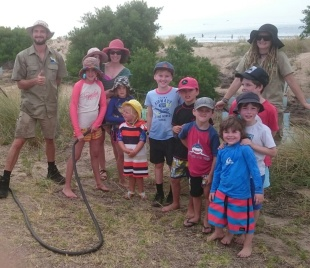 GORCCs Pete Crowcroft and Rachael Beecham with a group of enthusiastic honorary conservation team members.