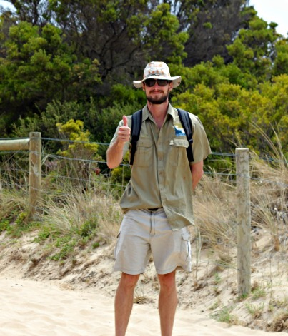 GORCC Education Coordinator Pete Crowcroft is excited for the days adventures.