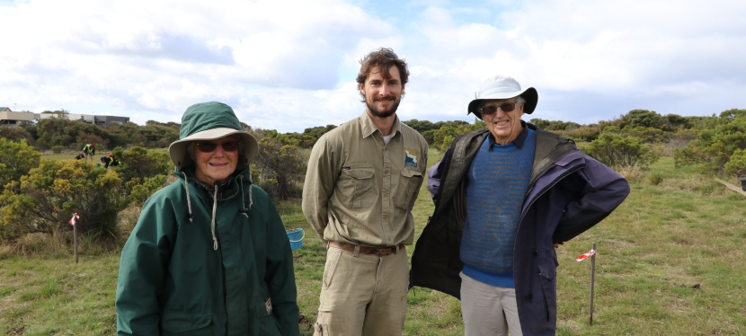 Volunteers transform clifftops