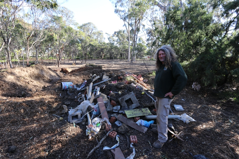 Rubbish dumped at Torquay's Taylor Park
