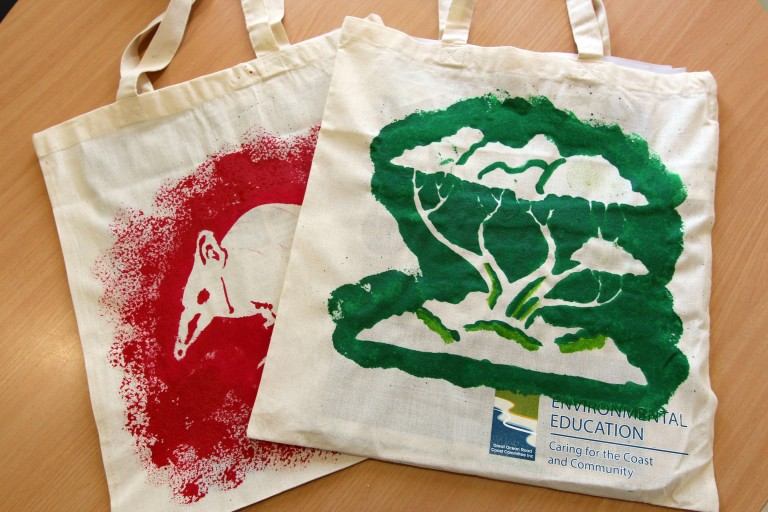 Bandicoot Moonah tree tote bags