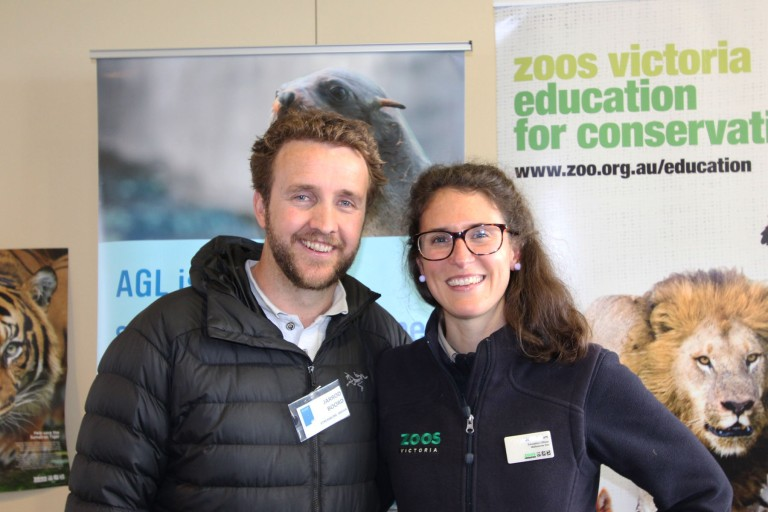 Jarrod (Streamline Media) and Jess (Zoos Vic)