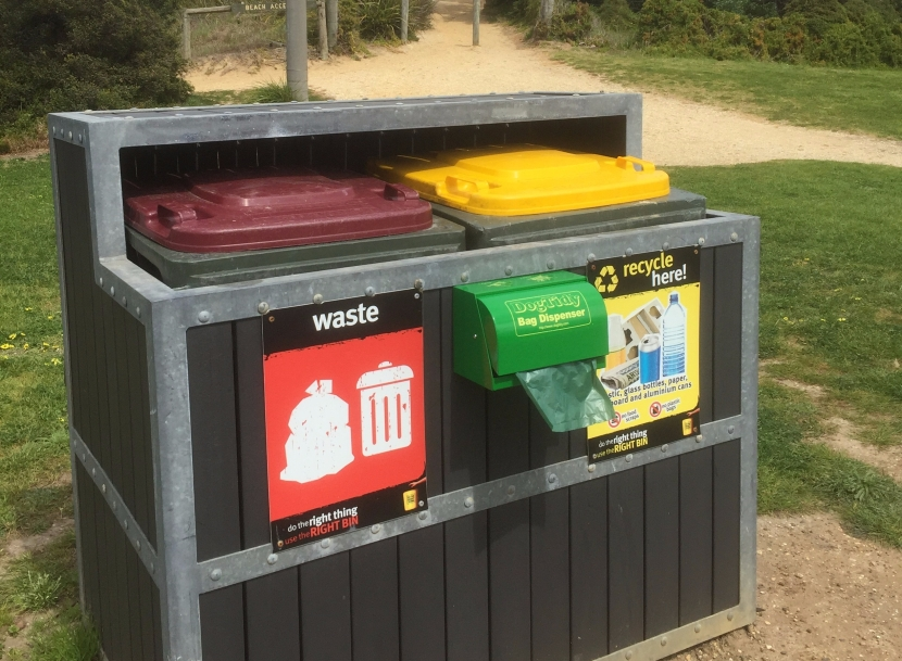 New biodegradable dog bag dispensers for Anglesea
