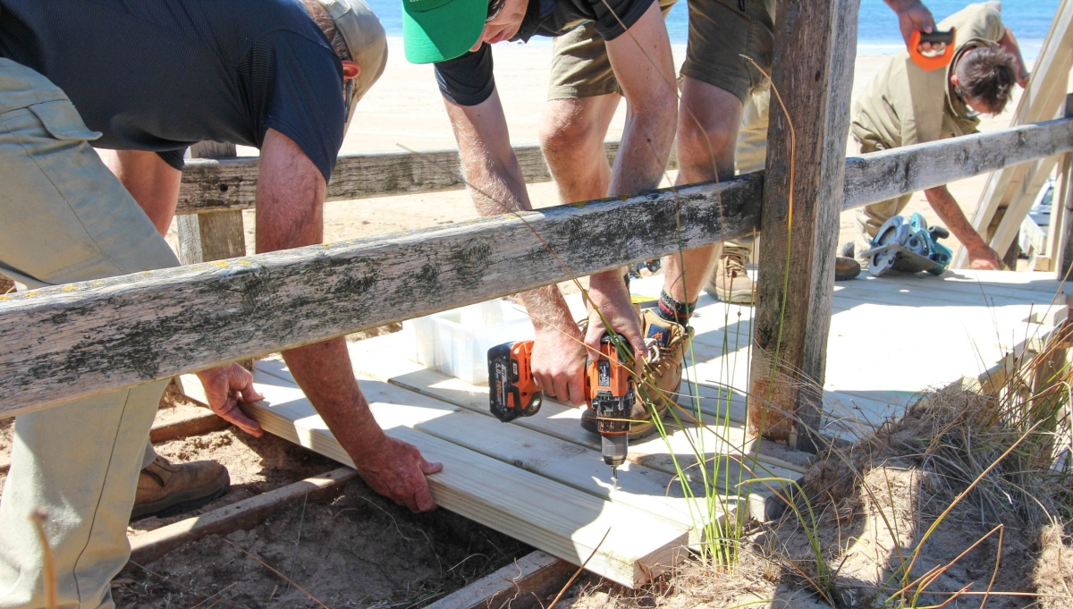 Stairs, boardwalks, ramps and tracks - that's a lot of maintenance.