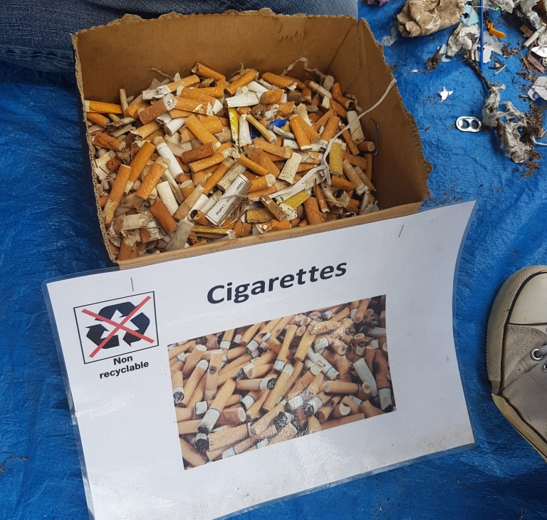 trash bags on tour cigarette collection - jan 10th 2019